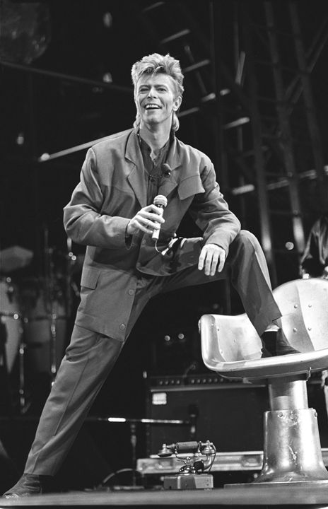 Musician David Bowie BW Photo - Front Row Photographs