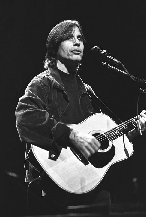 Musician Jackson Browne BW Photo - Front Row Photographs