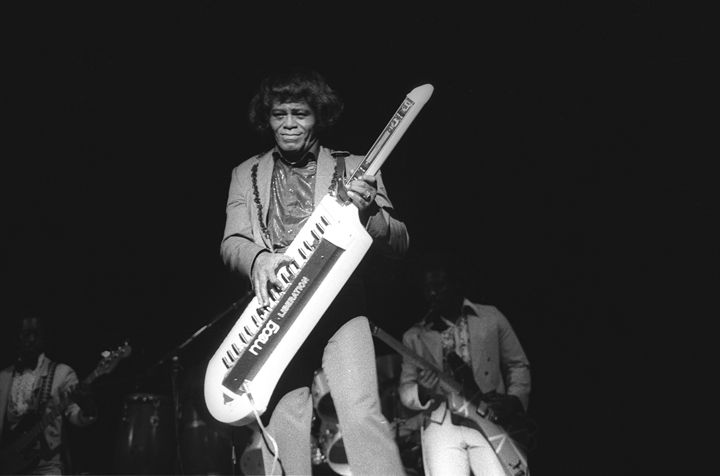 Singer James Brown BW Concert Photo - Front Row Photographs