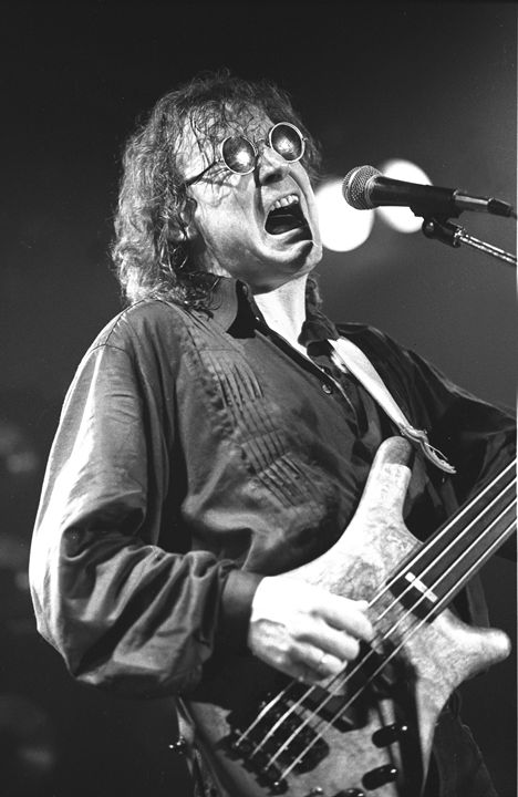 Bassist Jack Bruce BW Concert Photo - Front Row Photographs