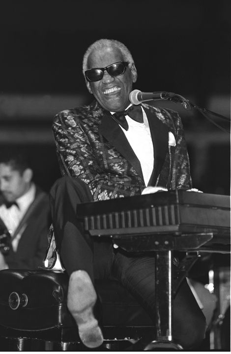 Musician Ray Charles BW Photo - Front Row Photographs