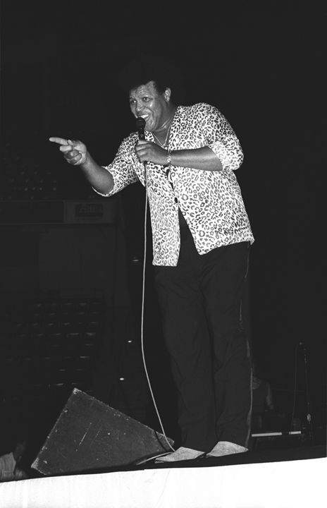 Singer Chubby Checker BW Photo - Front Row Photographs