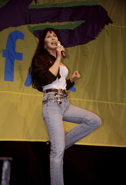 Cher Color Concert Photo - Front Row Photographs