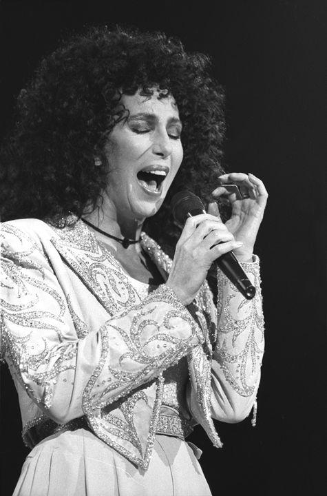 Cher Black & White Concert Photo - Front Row Photographs
