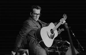 Musician Elvis Costello BW Photo - Front Row Photographs