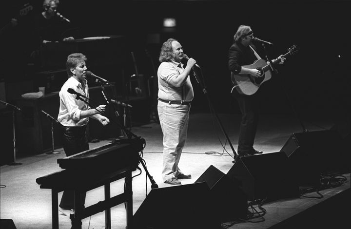 Crosby, Stills & Nash BW Photo - Front Row Photographs