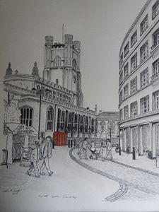 Market square, Cambridge, UK