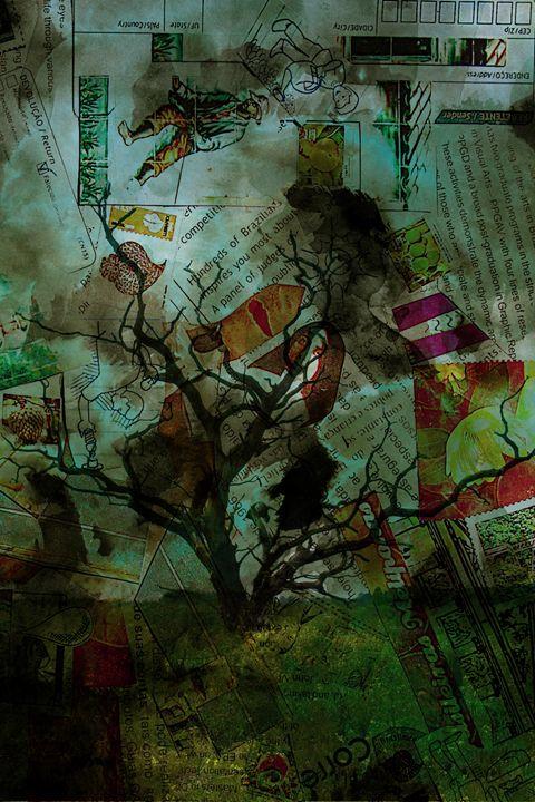 Dry Man Mail Art - Abraham Sagaraz