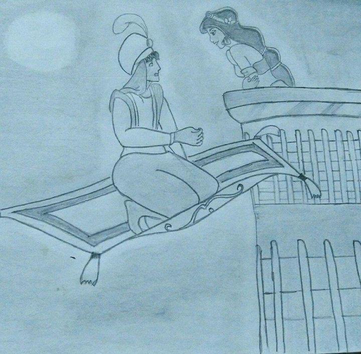 Aladdin and Jasmine at midnight - Rikita J. Arts gallery