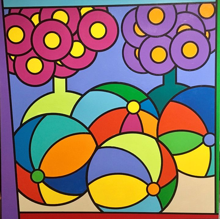 Beach Balls And Flowers - Brian Wilson's Art