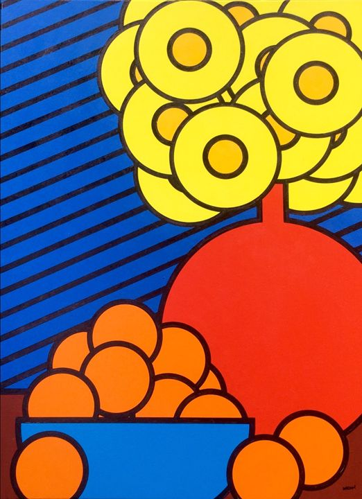 Still Life With Flowers And Oranges - Brian Wilson's Art