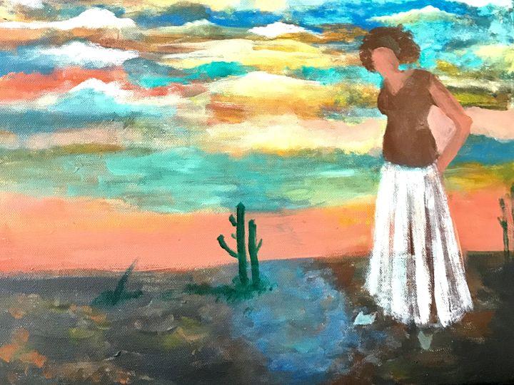 Sophia in the desert - Portraits-My Papyruses