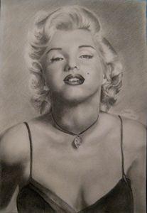 Marilyn Monroe, graphite