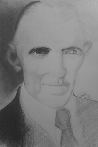 Nikola Tesla, graphite