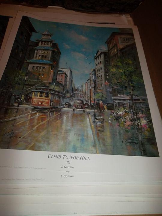 Climb to Knob Hill - L. Gordon Prints