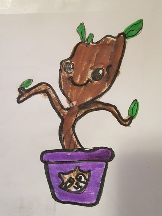 i am little groot - Zarabea's World of Art