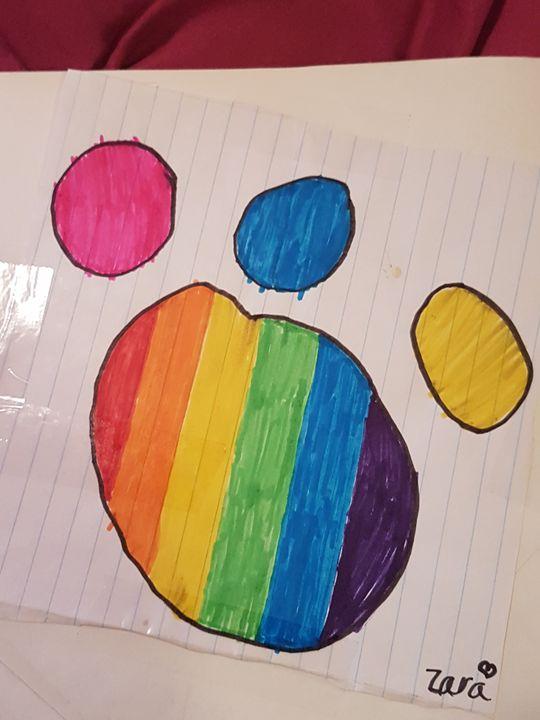 a rainbow footprints - Zarabea's World of Art