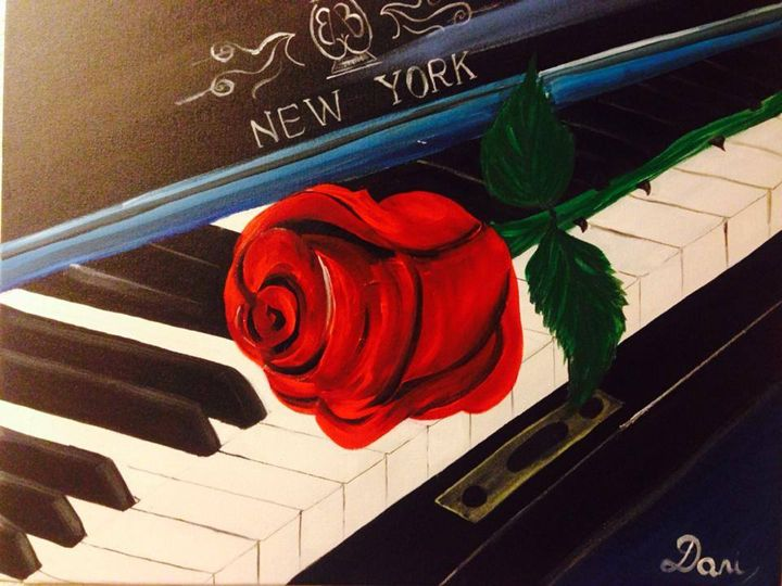Piano and Roses - DaniMaxiFineArt