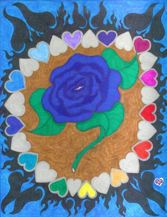 Love My Blue Rose - Creative Creations With Love