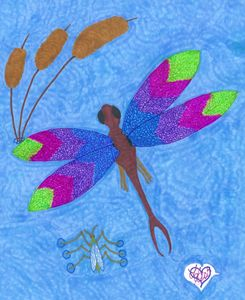 Dragon Fly and Water bug