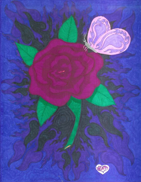 Rose And The Butterfly - Creative Creations With Love