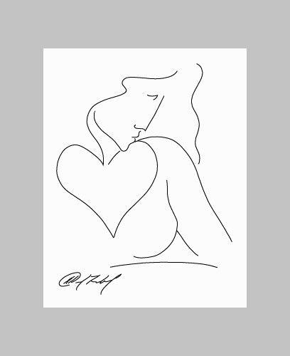 Woman with a Heart - David Friebel Art