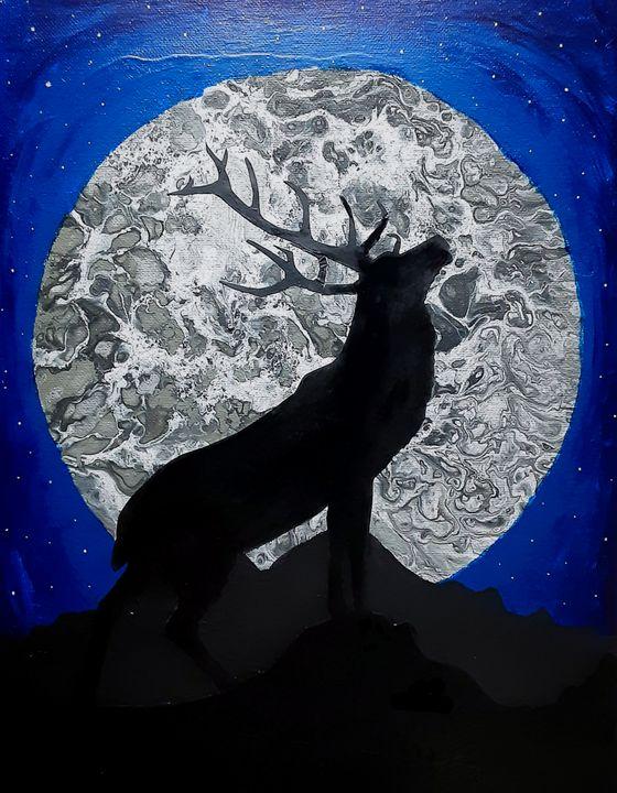 Elk in the Moonlight - JLP Creations