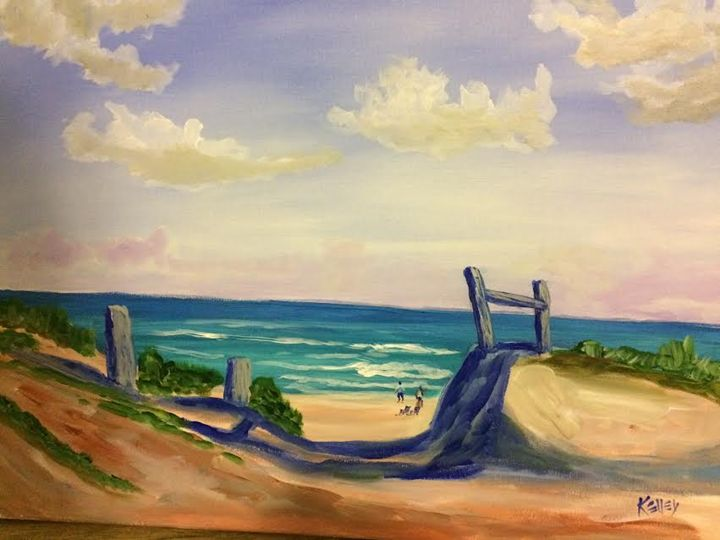 16X20 beach path - Kelley Art