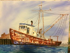 Rusty Shrimp Boat