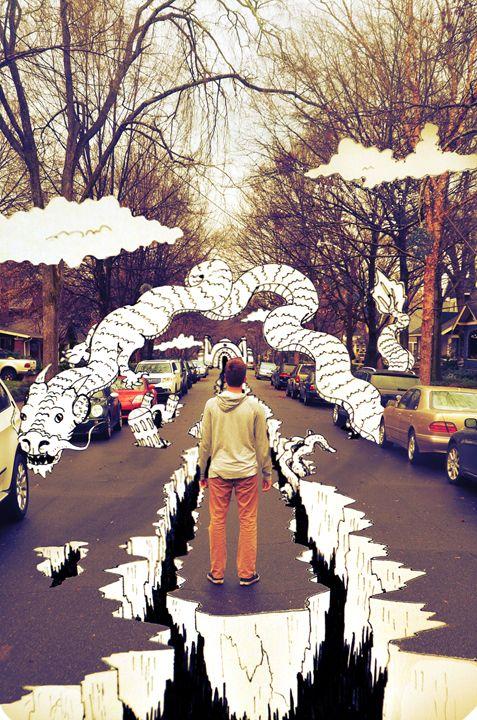 standing on fantasy Street - Aharting