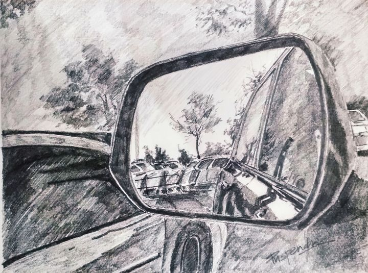 Car Mirror - Puspendu Roy Karmakar