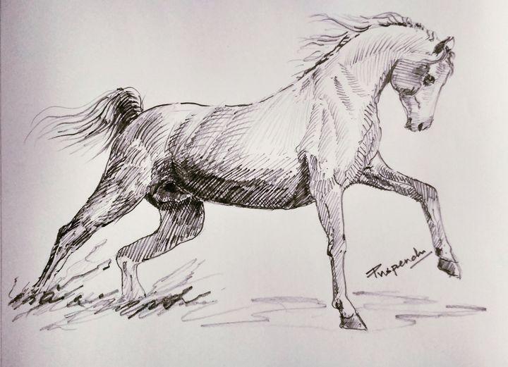 Running Horse - Puspendu Roy Karmakar