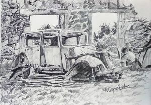 Old vintage car-1