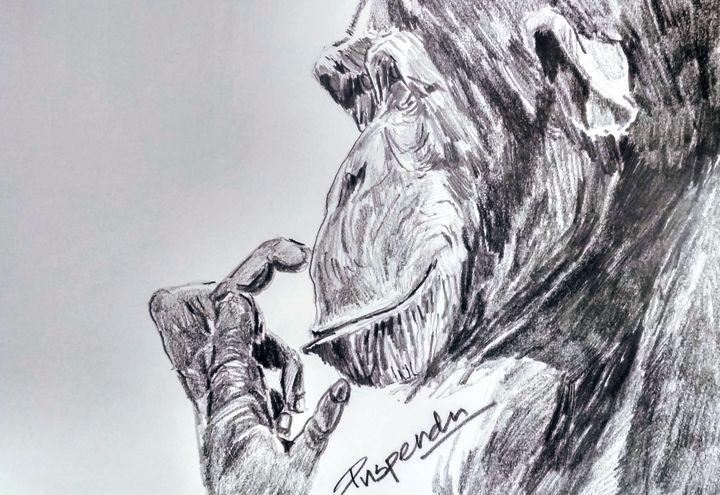 Thinking Ape - Puspendu Roy Karmakar