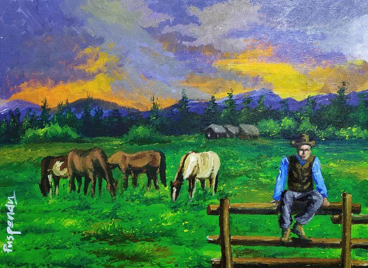 Horses and the owner - Puspendu Roy Karmakar