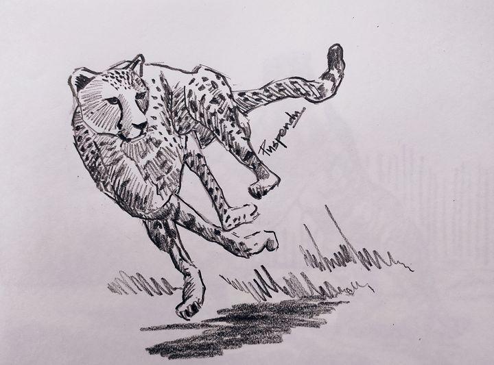 Running Cheetah - Puspendu Roy Karmakar