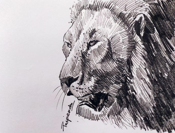 Lion Face-1 - Puspendu Roy Karmakar