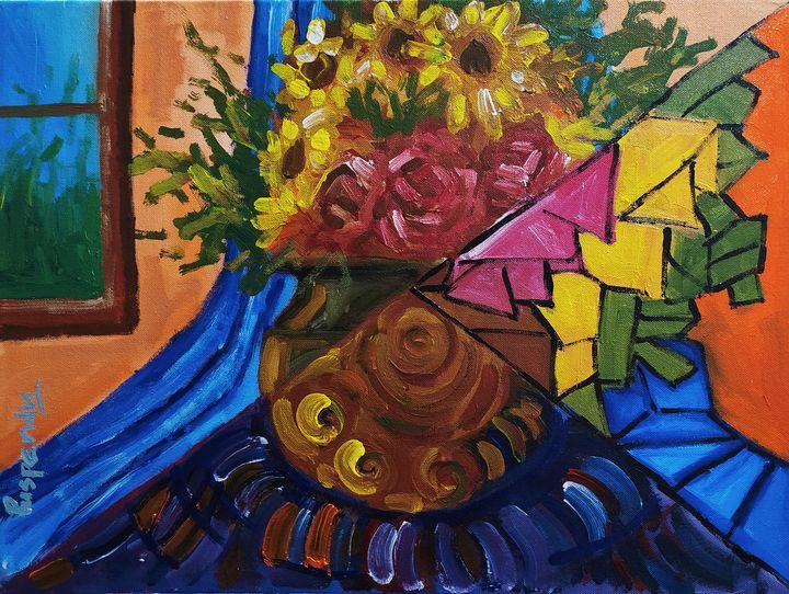 Cubic Flower Vase - Puspendu Roy Karmakar
