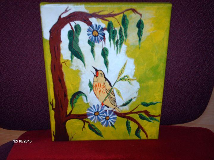 Bird On A Branch. - JecosArt
