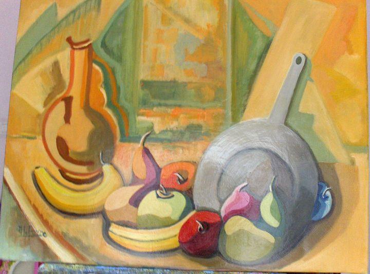 still life at orange pitcher - lefresne michel