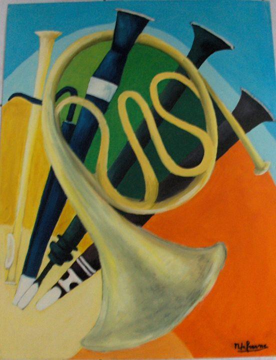 clarinet aubois and horn - lefresne michel
