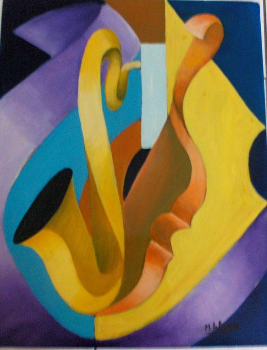 saxophone  and violin - lefresne michel