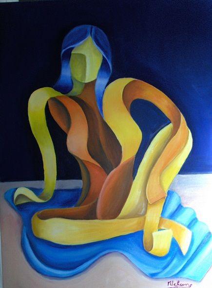 sitting woman - lefresne michel