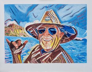 Jimmy Buffett Oldest Surfer OTB - Prrthd Products