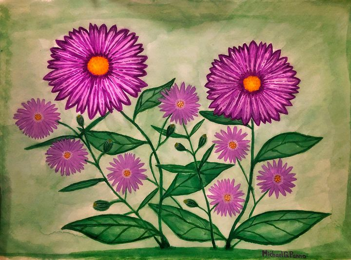 Purple Wildflowers - Michael Panno