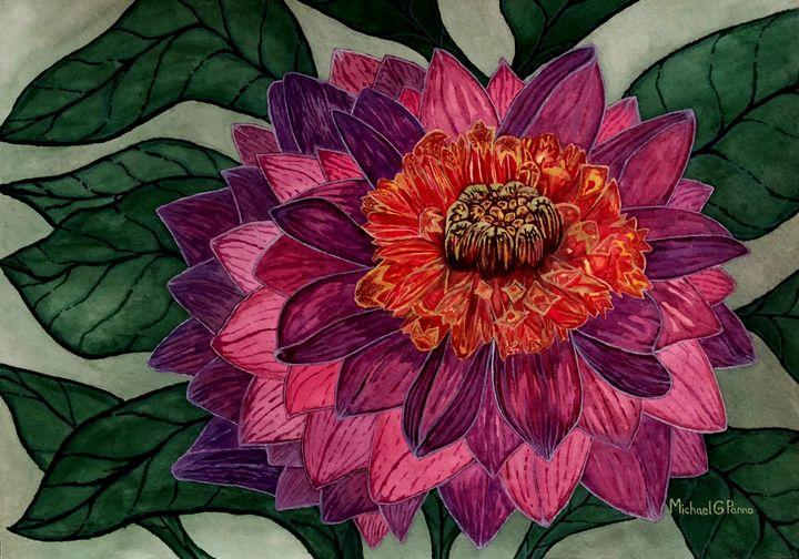 Purple Dahlia Flower - Michael Panno