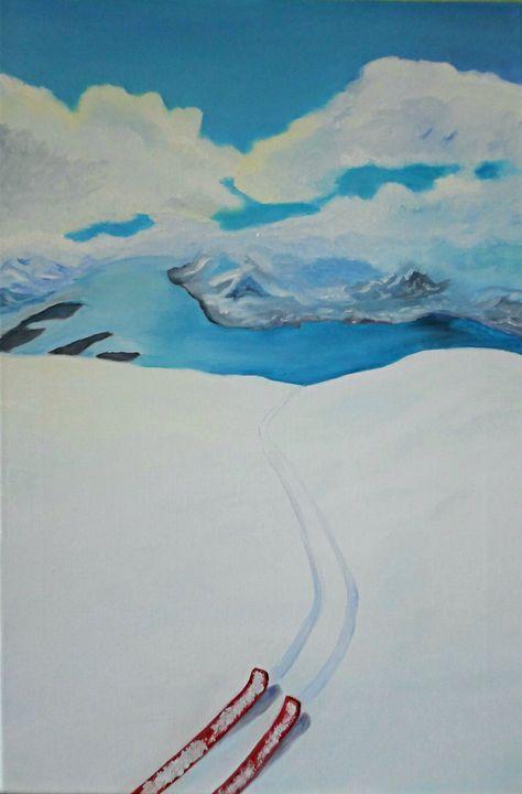 """Freedom of snowy mountains"" - Arina Khlebnikova"