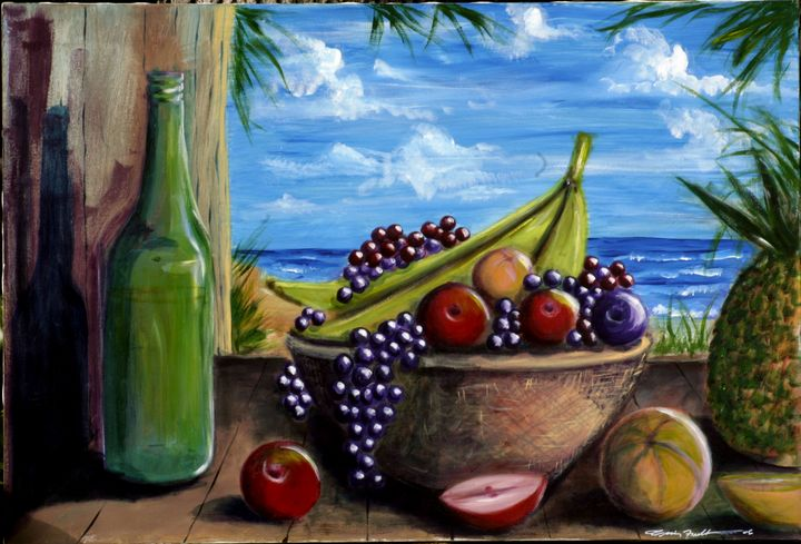 Fruit Basket on the Island - Craig Fielder It`s All In My Hands Art Production