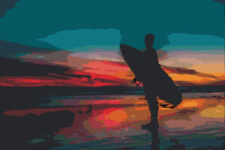 Sunset Surfer - Gypsea Art & Designs