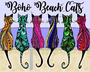 Boho Beach Cats